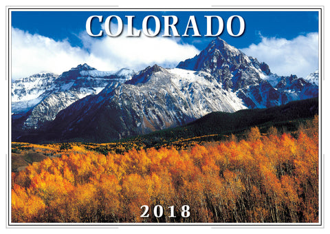 2018 Colorado Wall Calendar