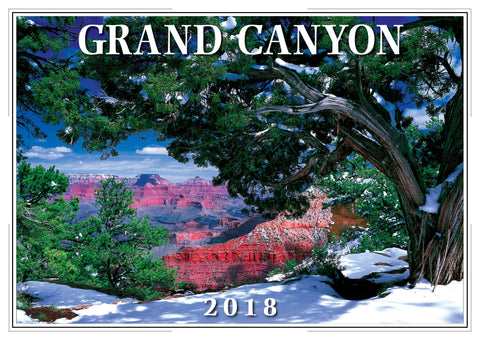 2018 Grand Canyon Wall Calendar