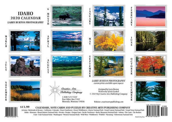 2020 Idaho Wall Calendar