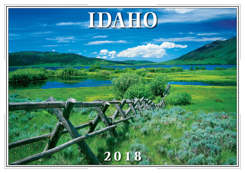 2018 Idaho Wall Calendar