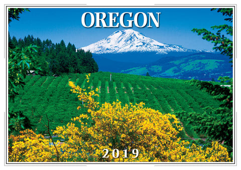 2019 Oregon Wall Calendar