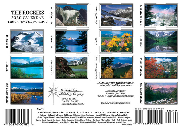 2020 The Rockies Pocket Calendar