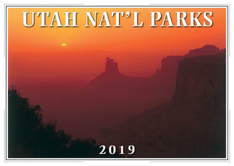 2019 Utah National Parks Wall Calendar