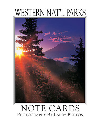 Western Nat'l Parks Mount Rainier Note Card Set