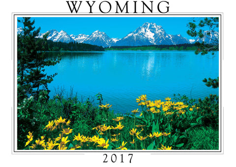 2017 Wyoming Wall Calendar