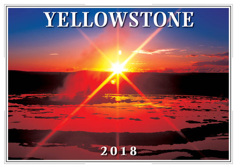 2018 Yellowstone Wall Calendar