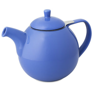 TeaLula 45 oz Curve blue Teapot glossy surface with lid