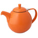 TeaLula 45 oz Curve carrot orange colored Teapot glossy surface with lid