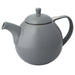 TeaLula 45 oz Curve gray Teapot glossy surface with lid
