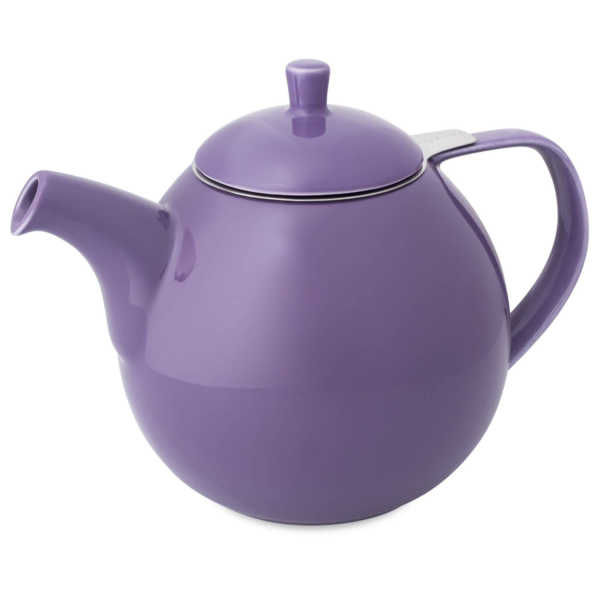TeaLula 45 oz Curve purple Teapot glossy surface with lid
