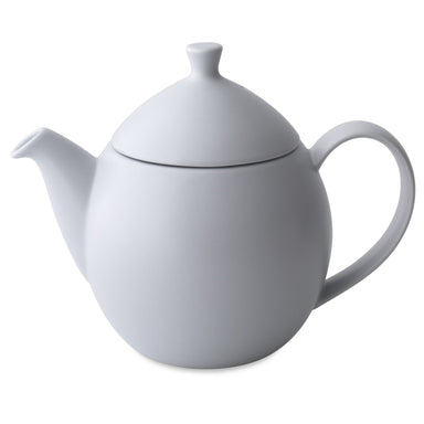 TeaLula 32 oz lavender mist colored satin finish curve Dew Teapot with large thin curve handle and detachable tea pot lid