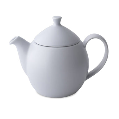 TeaLula 14 oz lavender mist colored satin finish curve Dew Teapot with large thin curve handle and detachable tea pot lid