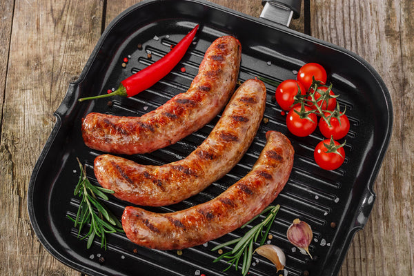 Certified Organic Hot Pork Sausages - Organic Freezer