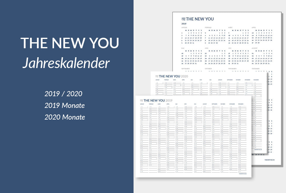 THE NEW YOU Jahreskalender 2019/2020