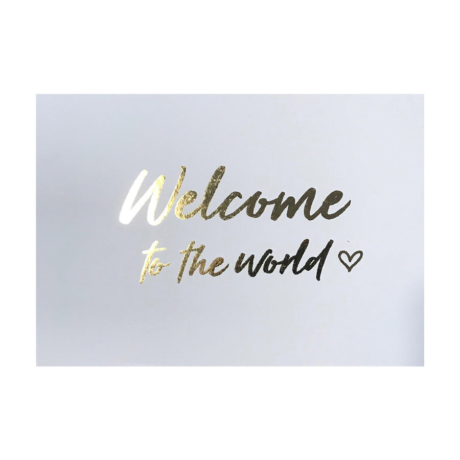 Postkarte Welcome to the world