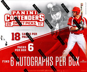 2017 Panini Contenders Draft Picks Collegiate Baseball Hobby Box