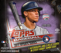 2017 Topps Update Series Baseball Jumbo Hobby Box