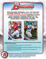 2018 Bowman Baseball HTA Jumbo Hobby Box April 25th
