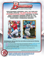 2018 Bowman Baseball Hobby Box April 25th