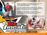 2018 Topps Finest Baseball Hobby Box June 6th