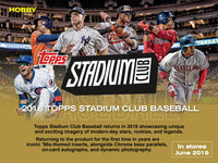2018 Topps Stadium Club Baseball Hobby Box June 27th
