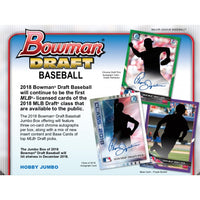 2018 Bowman Draft Baseball Jumbo Hobby Box December 5th