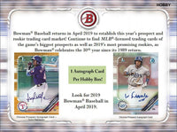 2019 Bowman Baseball Hobby Box April 17th