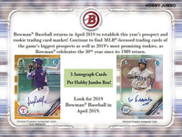 2019 Bowman Baseball Jumbo HTA Box April 17th