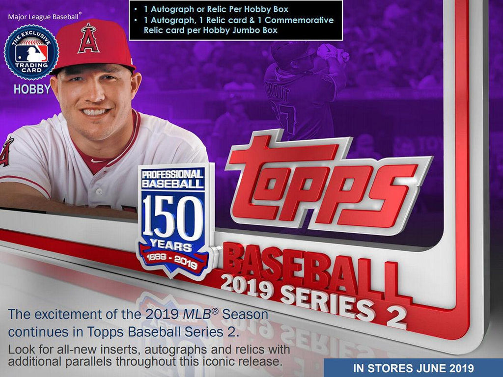2019 Topps Series 2 Baseball Jumbo Box (Plus 2 Silver Packs)