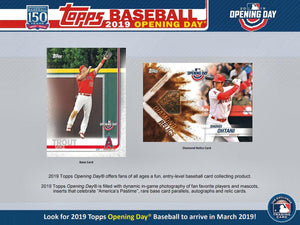 2019 Topps Opening Day Baseball Hobby Box March 13th