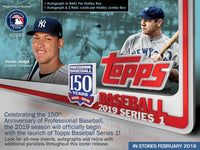 2019 Topps Series 1 Baseball Jumbo Hobby Box January 30th (Plus 2 Silver Packs)