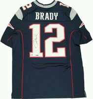 Tom Brady Autographed New England Patriots Authentic Blue/White Jersey- Steiner Sports Authenticated