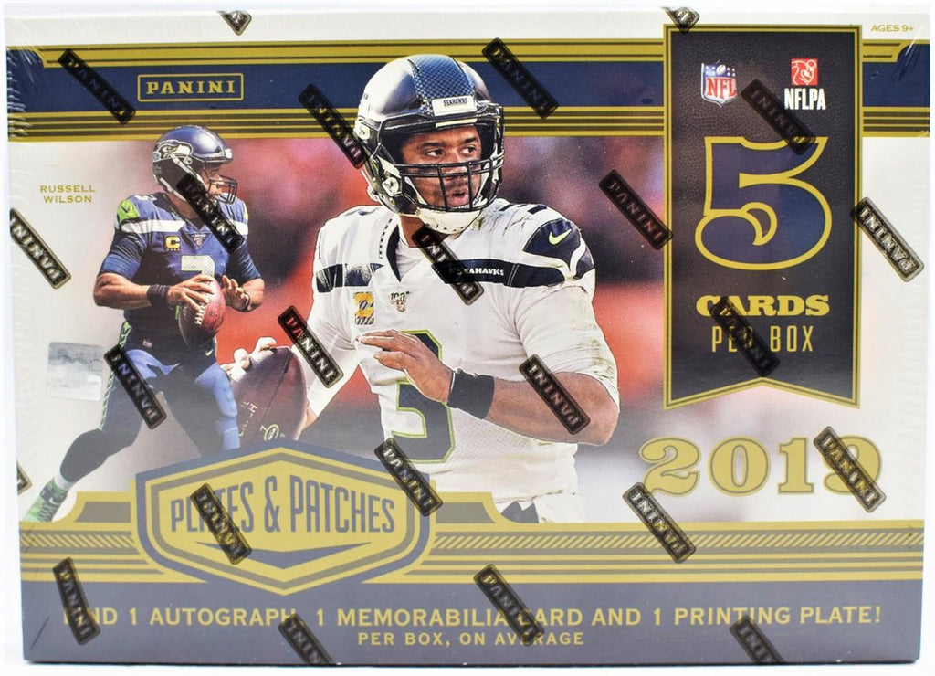 2019 Plates & Patches Football Hobby Box