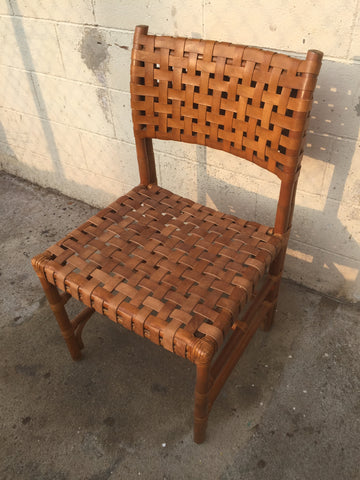 Leather Woven Seat Chair Restoration!