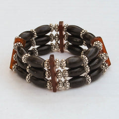 Native American Style Hairpipe Bead Stretchy Bracelet