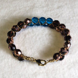 Criss-Cross Wire and Bead Bracelet