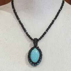 Knotted Cord Bezel Necklace for Stones