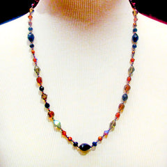 Continuous Strand Knotted Necklace