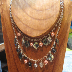 Multi-Level Chain Necklace with Beads