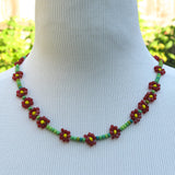 Daisy Chain Seed Bead Necklace
