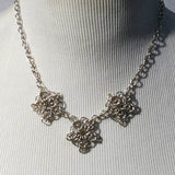 Celtic Flower Chain Maille Necklace