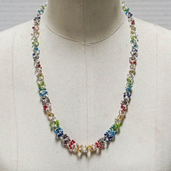 Seed Bead & Jump Ring Necklace Chain Maille Necklace