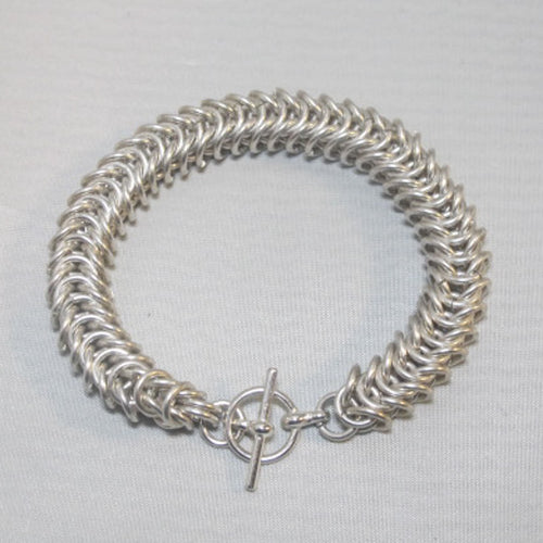 Chain Maille Bracelet in Box Chain Weave