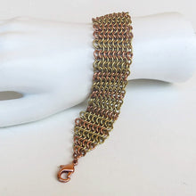 Load image into Gallery viewer, Chain Maille Bracelet in Slinky European 4-in-1 Weave, with Lobster Clasp