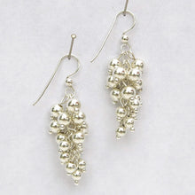 Load image into Gallery viewer, Grape Cluster Earrings with gold- or silver-dipped metal beads