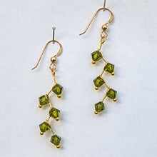 Load image into Gallery viewer, Swarovski Crystal Cascading Vine Earrings