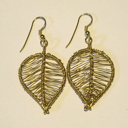 Wired Leaf Earrings