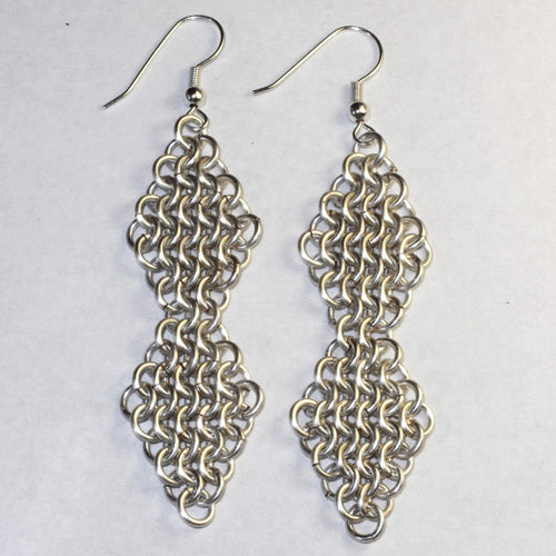 Double Diamond Chain Maille Earrings