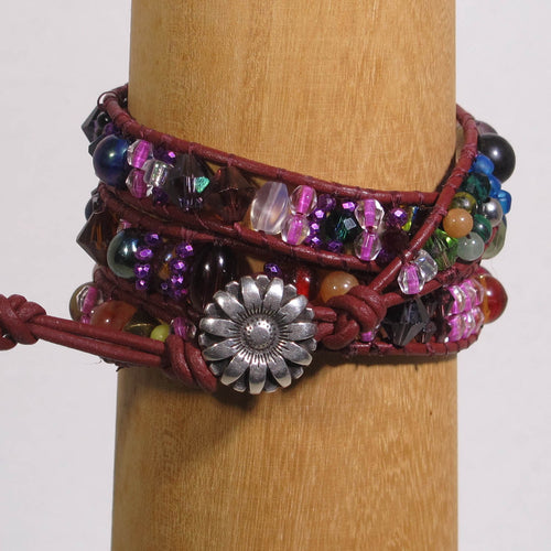 Zoom Recording & Handout Only of Bohemian Wrap Bracelet Class