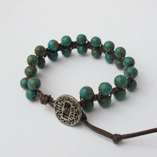 Load image into Gallery viewer, Double-Sided Macrame Bracelet with Gemstones